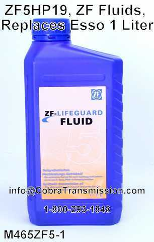 ZF5HP19, ZF Fluids, Replaces Esso 1 Liter