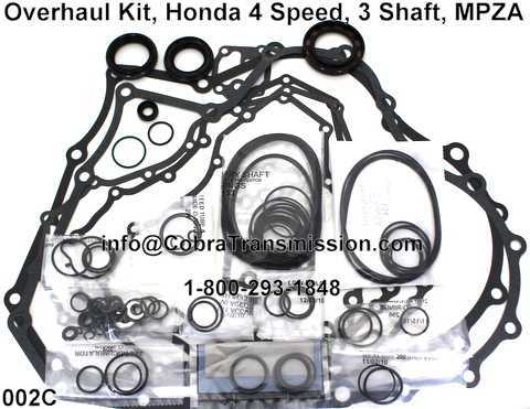 Overhaul Kit, Honda 4 Speed, 3 Shaft, MPZA