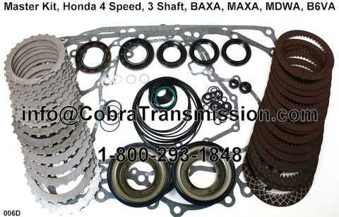 Master Kit, Honda 4 Speed, 3 Shaft, BAXA, MAXA, MDWA, B6VA