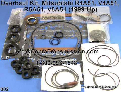 Overhaul Kit, Mitsubishi R4A51, V4A51, R5A51, V5A51 (1999-Up)