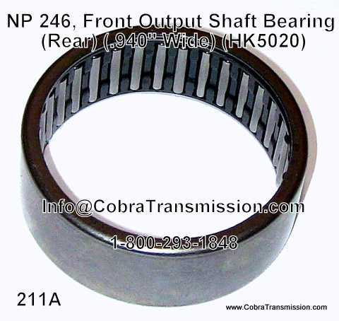 NP 246, Front Output Shaft Bearing (Rear)