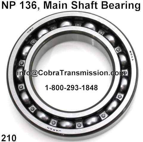 NP 136, Main Shaft Bearing