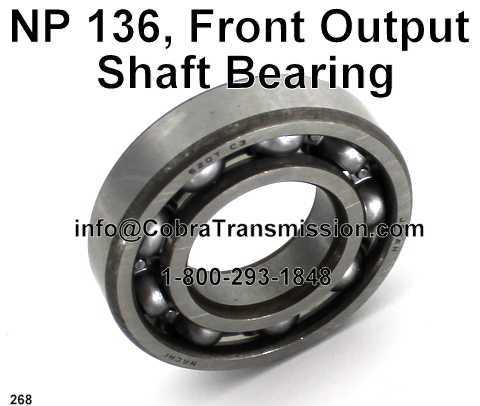 NP 136, Front Output Shaft Bearing