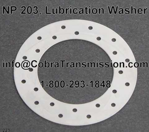 NP 203, Lubrication Washer