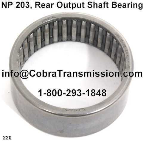 NP 203, Rear Output Shaft Bearing