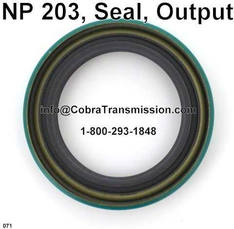 NP 203, Seal, Output