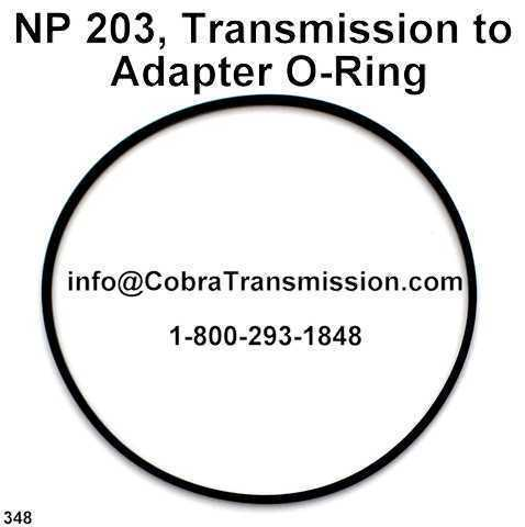 NP 203, Transmission to Adapter O-Ring