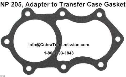 NP205 Adapter to Transfer Case Gasket - Large Hole