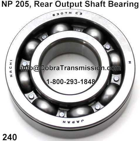 NP 205, Rear Output Shaft Bearing