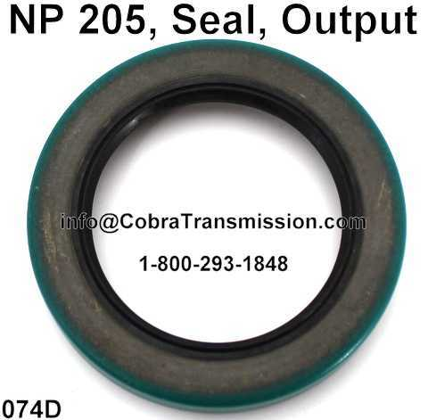NP 205, Seal, Output
