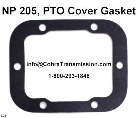 NP 205, PTO Cover Gasket