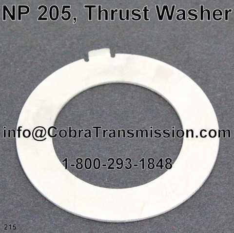 NP 205, Thrust Washer