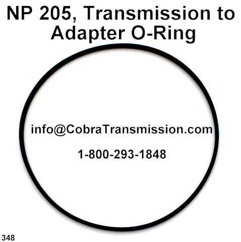 NP 205, Transmission to Adapter O-Ring