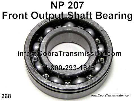 NP 207, Front Output Shaft Bearing
