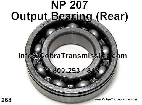 NP 207, Output Bearing