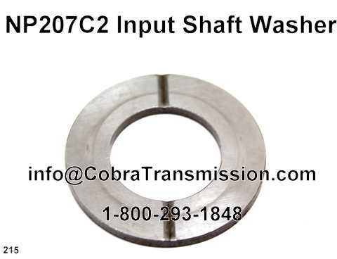 NP207C2 Input Shaft Washer