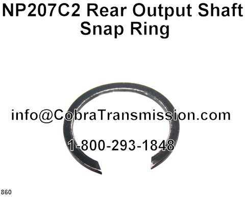 NP207C2, NP242 Rear Output Shaft Snap Ring