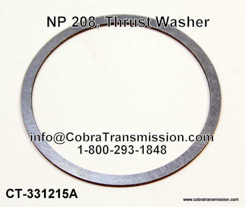 NP 208, Thrust Washer