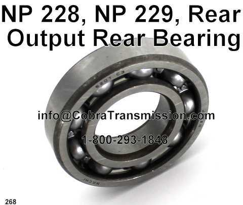 NP 228, NP 229, Rear Output Rear Bearing