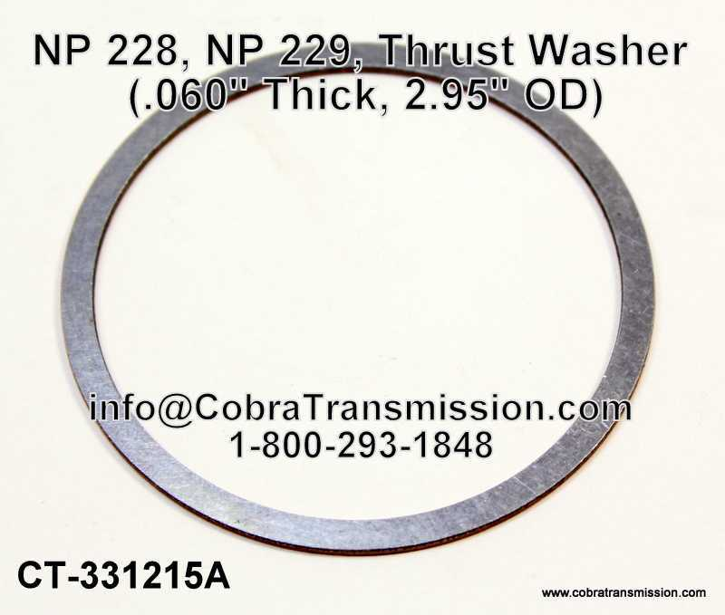 NP 228, NP 229, Thrust Washer