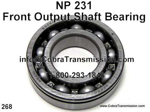 NP 231, Front Output Shaft Bearing