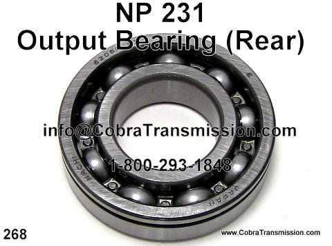 NP 231, Output Bearing