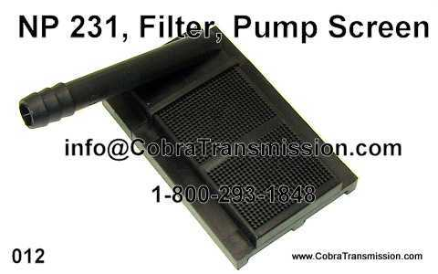 NP 231, Filter, Pump Screen