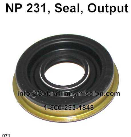 NP 231, Seal, Output