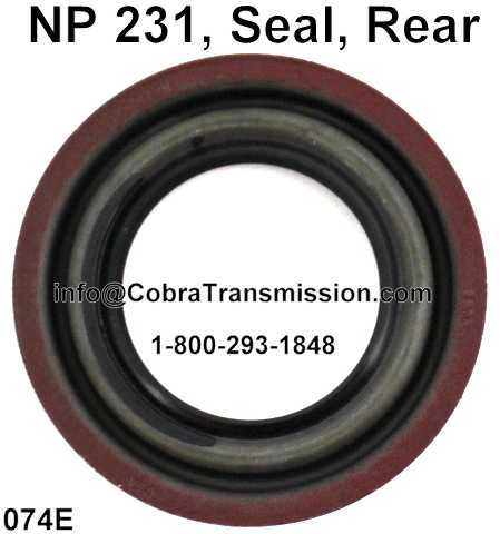 NP 231, Seal, Rear