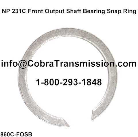 NP 231C Front Output Shaft Bearing Snap Ring (Good - Used)