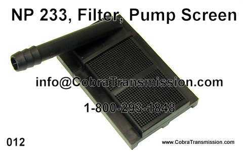 NP 233, Filter, Pump Screen