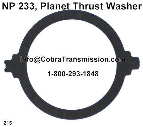 NP 233, Planet Thrust Washer