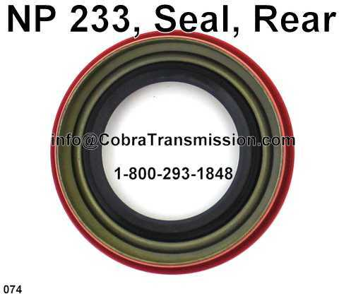 NP 233, Seal, Rear
