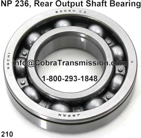NP 236, Rear Output Shaft Bearing