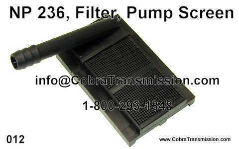 NP 236, Filter, Pump Screen