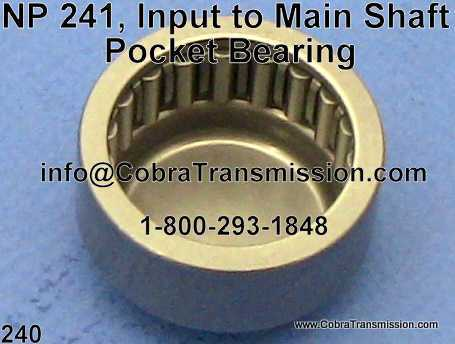 NP 241, Input to Main Shaft Pocket Bearing