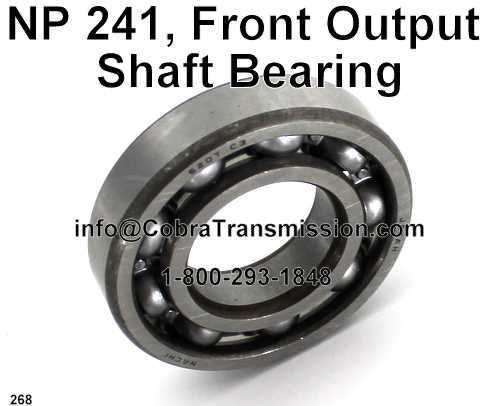 NP 241, Front Output Shaft Bearing