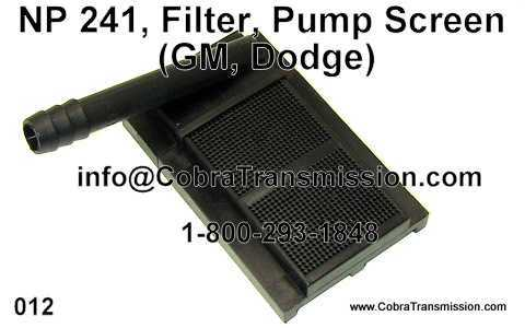 NP 241, Filter, Pump Screen (GM, Dodge)