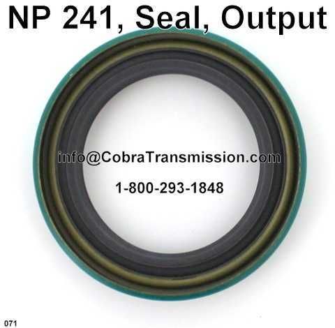 NP 241, Seal, Output