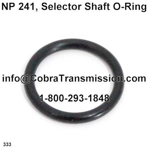 NP 241, Selector Shaft O-Ring