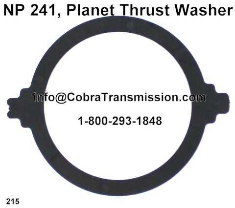 NP 241, Planet Thrust Washer