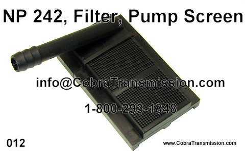 NP 242, Filter, Pump Screen