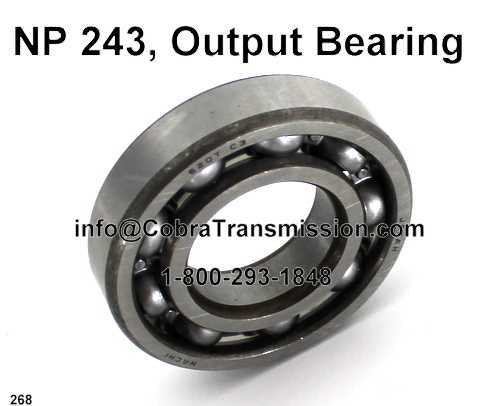 NP 243, Output Bearing