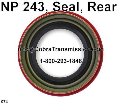 NP 243, Seal, Rear