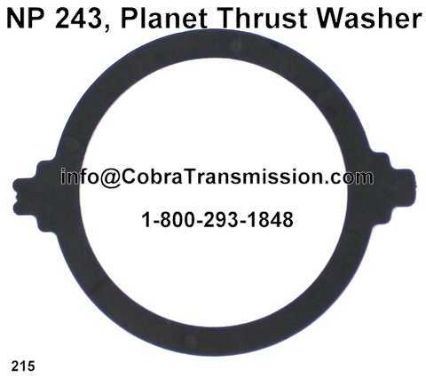 NP 243, Planet Thrust Washer