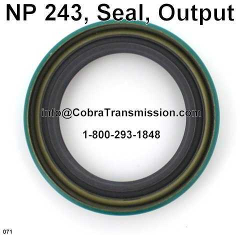 NP 243, Seal, Output