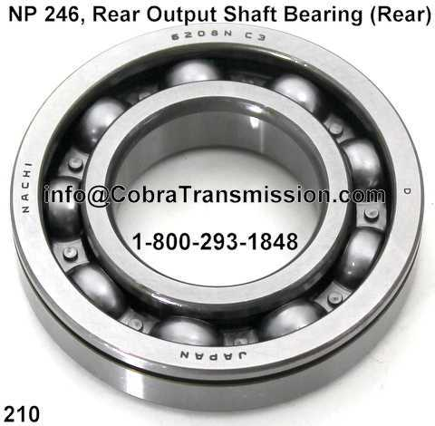 NP 246, Rear Output Shaft Bearing (Rear)