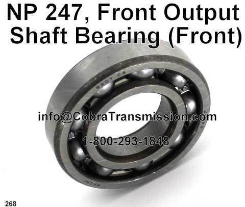NP 247, Front Output Shaft Bearing (Front)