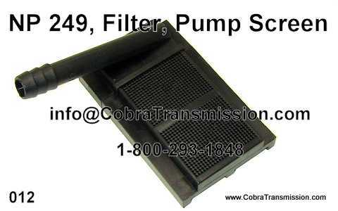 NP 249, Filter, Pump Screen