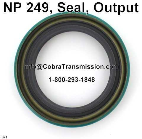 NP 249, Seal, Output